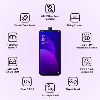 OPPO F11 Pro 128GB (Thunder Black, 6GB RAM)