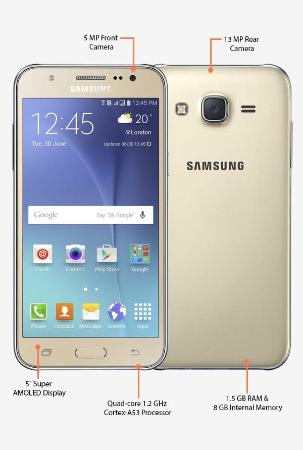Samsung Galaxy J5 J500F 4G Dual Sim 8GB (Gold)