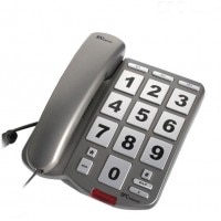 SPCtelecom 3246 Big Keys Corded Phone (Titanium)