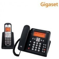 GigasetC675 Corded & Cordless Combo Landline Phone Black