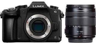 Panasonic DMC-G85HGW-K Mirrorless Camera Body with Single Lens: 14-140 F/3.5-5.6(Black)