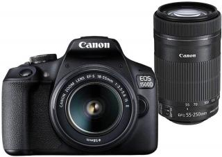 Canon EOS 1500D DSLR Camera Body Dual kit with EF-S 18-55 IS II + 55-250 IS II lens (16 GB Memory Card & Carry Case )(Black)