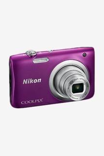 Nikon Coolpix A100 20.1 MP Point & Shoot Camera 16GB Card + Camera Pouch (Purple)