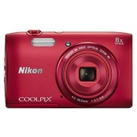 Nikon Coolpix S3600 20.1MP Point and Shoot Digital Camera (Pink) with 8x Optical Zoom