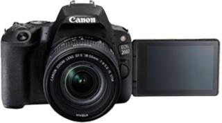Canon EOS 200D DSLR Camera EF-S18-55 IS STM+ EF-S 55-250 mm IS IIBlack