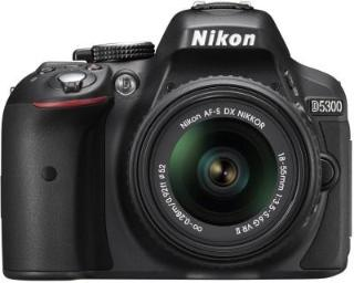 Nikon D5300 DSLR Camera Body AF-P DX Nikkor 18-55 mm VR Kit Black