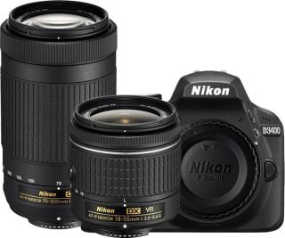 Nikon D3400 DSLR Camera AF-P DX Nikkor 18 - 55 mm Black