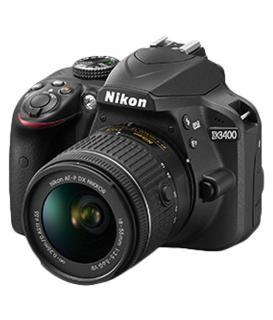 Nikon D3400 DSLR 24.2MP Camera AF-P 18-55mm ASP VR II Lens Black