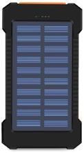 Giftana Solar Power Bank 10000 mAh Solar Power Bank - Black