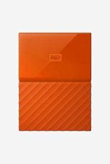 WD My Passport 1 TB Portable External Hard Drive (Orange)