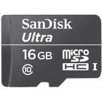 SanDisk Ultra microSDHC 16GB Class 10, black, 16gb