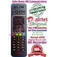AIRTEL Digital TV DTH Remote Original Sd/HD/HD Recording Compatible