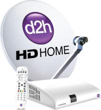 Videocon DISH D2h HD Box + RF Remote with 1 month GOLD Combo HD pack