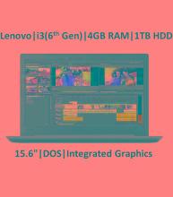 Lenovo Ideapad 130 81H70051IN (Core i3 - 6th Gen/4 GB RAM/1 TB HDD/39.624 cm (15.6 inch)/DOS) (Black 2.2 Kg) No ODD