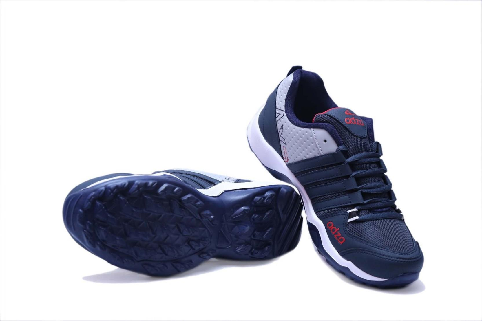 ADZA Men Casual Sports Running Shoes(Navy, Grey)