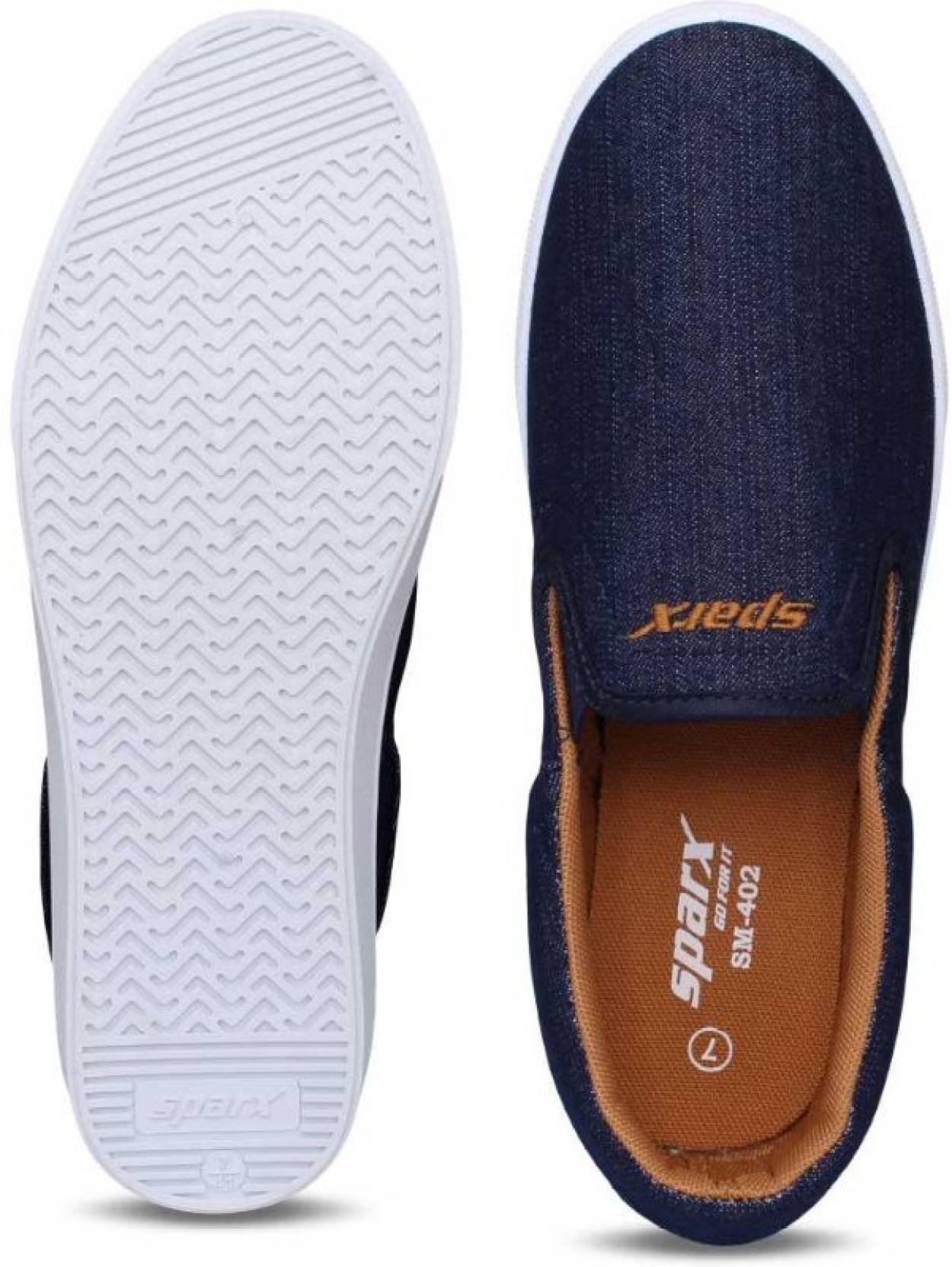 SparxSM-402 Navy Blue Slip On Sneakers For Men(Navy)