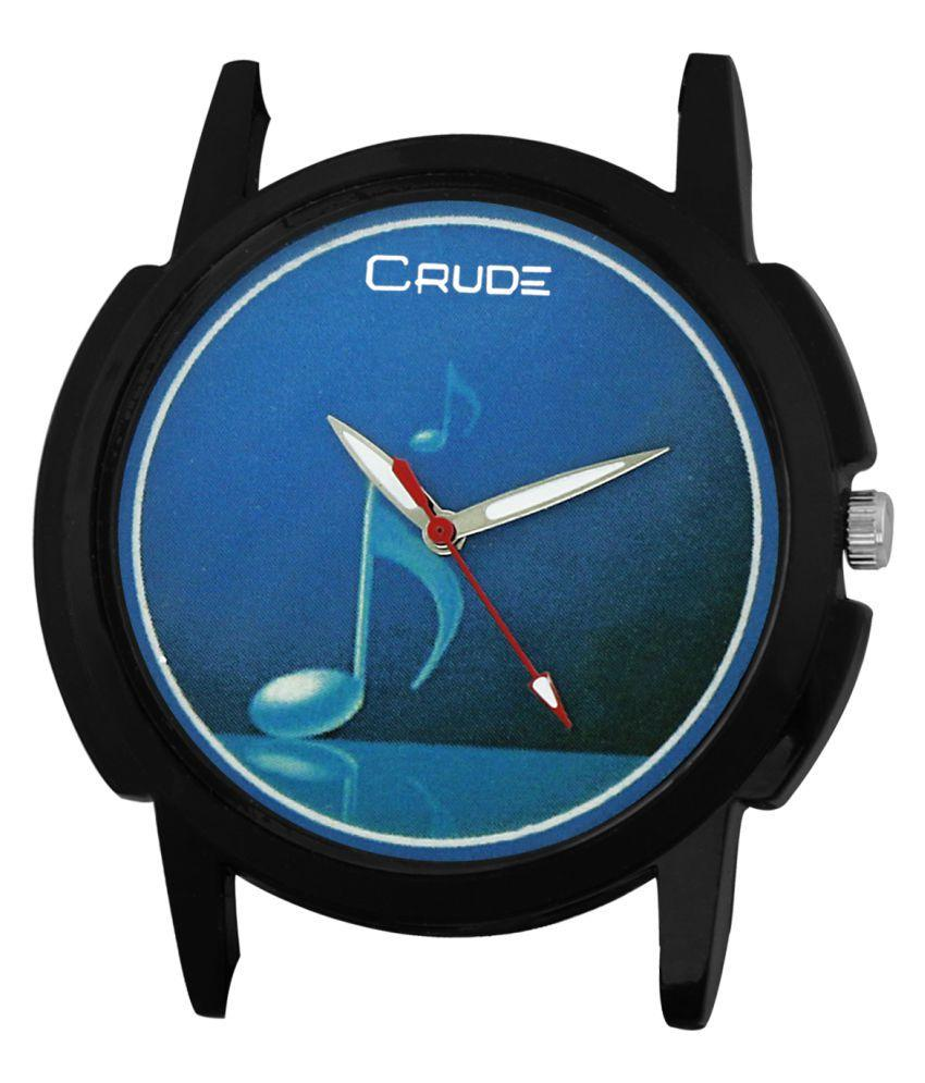 Crude Black Analog Watch for Men's