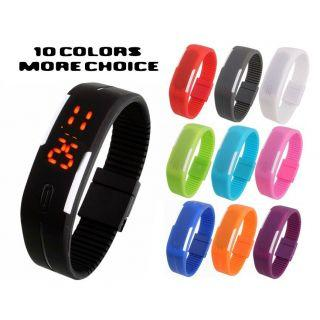 Snpatic LED Slim Digital Jelly Watch