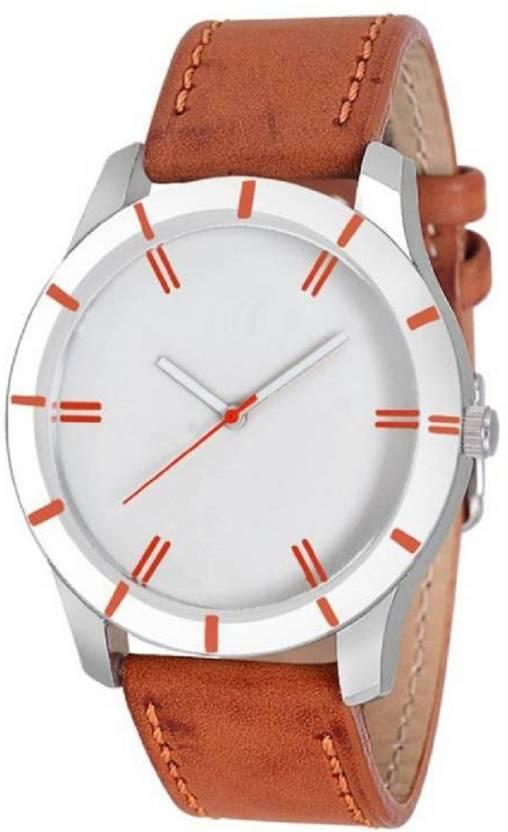 TRUE CHOICE SUPER FAST SELLING SPACILLY ORANGE LEATHER MEN ANALOG WATCH.