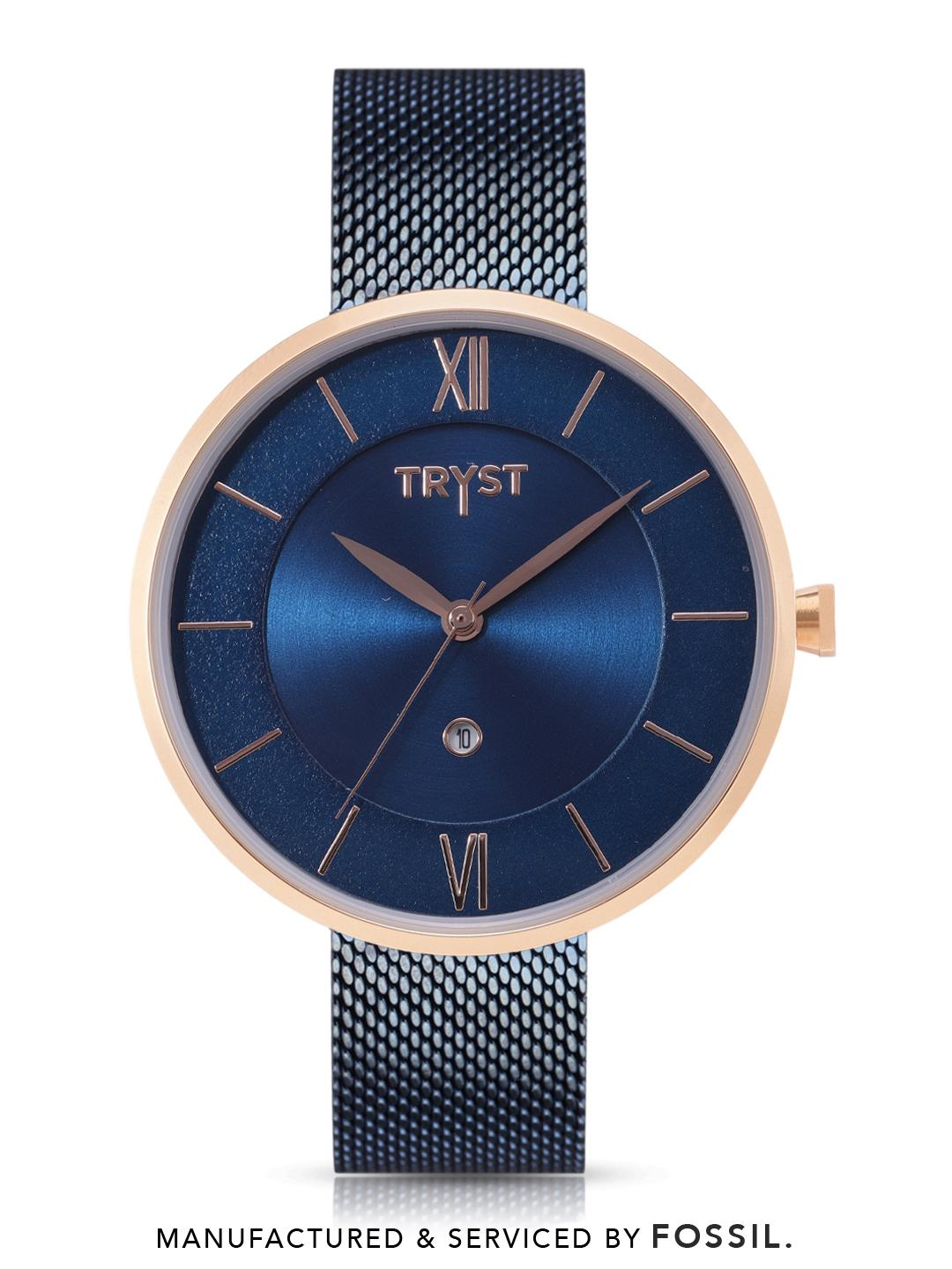 TRYST Manufactured & Serviced by Fossil Unisex Blue Watch
