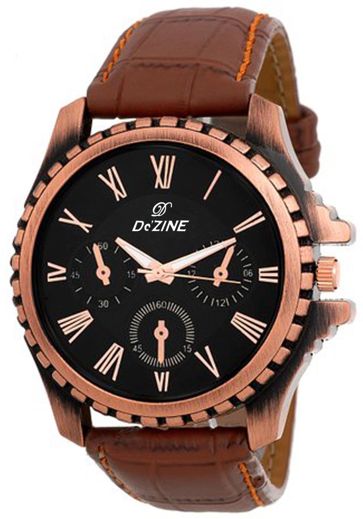 Dezine DZ-GR058-BLK-BRW Watch - For Men