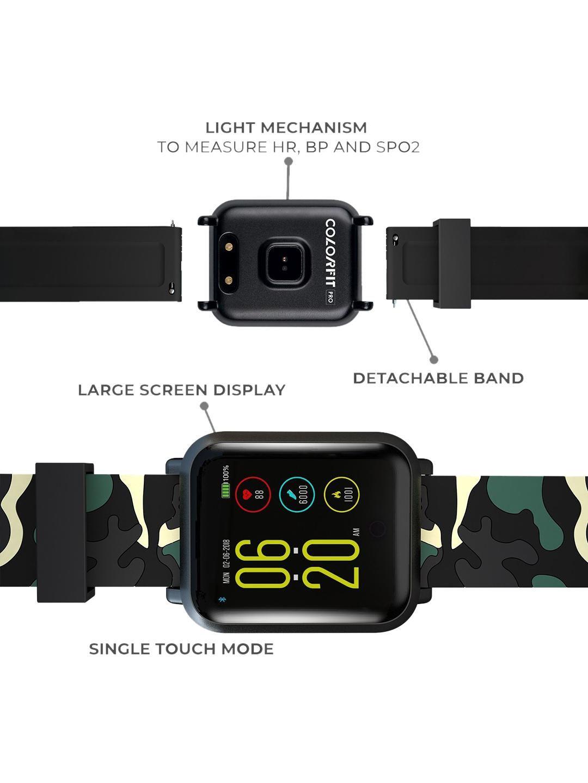 Noise Unisex Colorfit Pro Smartwatch Urban Camo Green