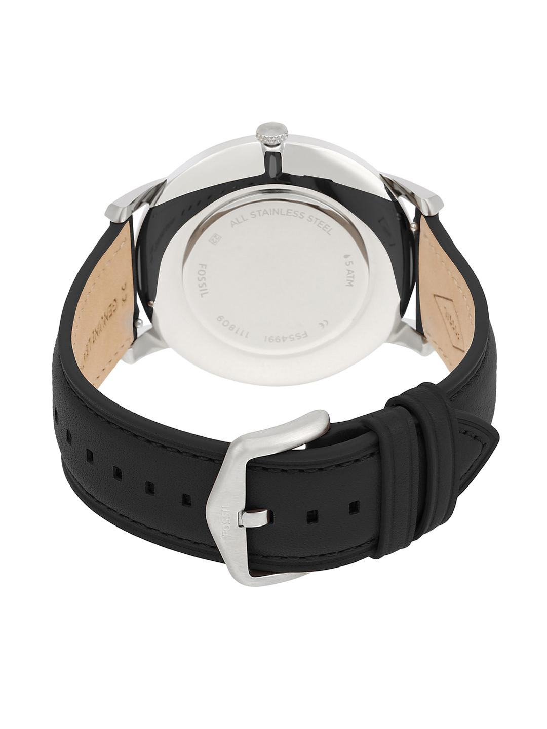 Fossil Men Black Analogue Watch FS5497
