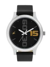 Fastrack Men Black Analogue Leather Watch