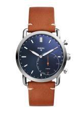 Fossil Men Brown & Blue Hybrid Smart Watch FTW1151