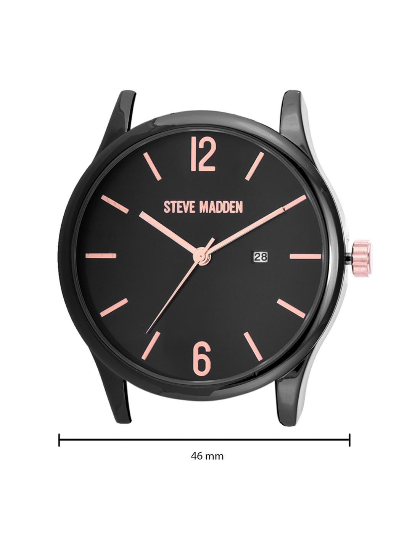 Steve Madden Men Black Analogue Watch SMW251BK