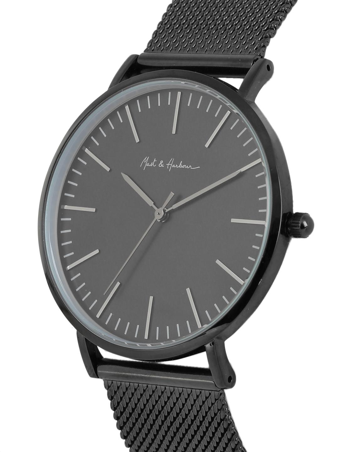Mast & Harbour Unisex Black Analogue Watch MFB-PN-WTH-S9665G