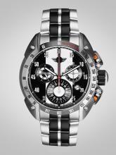 MINI Men Black & Silver-Toned Swiss Made Multi Function Watch 360127