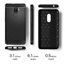 buy online 375e5 bf619 Lenovo K8 Plus, Tempered Glass + Soft Back Cover, (COMBO OFFER BLACK  SILICONE) Premium Real 2.5D Pro 9H Anti-Fingerprints & Oil Stains Coating  ...