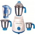 Celebration Celeb 750 Mrfwhite 750W Mixer Grinder White & Blue