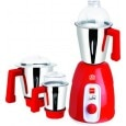 Cello Sunny 750 W Mixer Grinder (Red, 3 Jars)