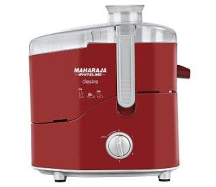 Maharaja Whiteline Desire Red Tressure 550-Watt Juicer Mixer Grinder (Red and Silver)