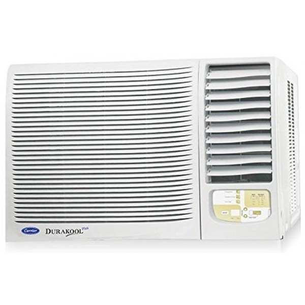 Carrier 1 5 ton 2 star durakool with remote window air for 15 width window air conditioner
