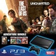 Sony PS3 500 जीबी with Adventure Pack (Black)