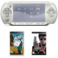 Sony PSP Playstation Portable (White) with Street Cricket Champions & Don 2