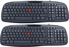 RNC WINNER USB Wired USB Multi-device Keyboard(Black)