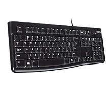 Logitech K120 Wired USB Keyboard (Black)