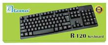 R3 GERMAN B07JGGBT48 Wired USB Laptop Keyboard(Black)