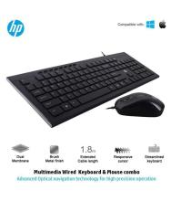HP 4SC13PA Black USB Wired Keyboard Mouse Combo