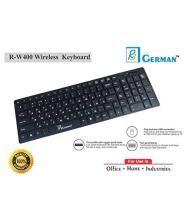 R3 GERMAN r-w400 keyboard Black Wireless Desktop Keyboard