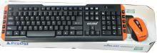 ProDot Wireless Keyboard+Mouse Combo TLC-107+145 Wireless Laptop Keyboard(Silver, Black)