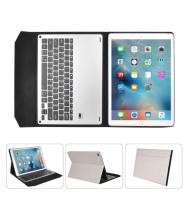 For iPad Pro 12.9inch Ultra Aluminum Bluetooth Keyboard PU Leather Case Cover WH