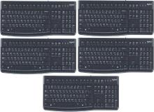 Logitech K120 WIERD KEYBOARD HINDI+ENGLISH 5PC Wired USB Multi-device Keyboard(Black)