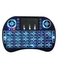 LipiWorld Mini Wireless Keyboard with Touchpad/Backlit Light Black Wireless Keyboard Mouse Combo
