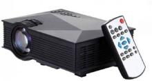 Bluebells India UNIC UC46,WIFI 1200 lm LED Corded Portable Projector Portable Projector(Black)