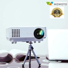WOWOTO LED Portable Projector 2000 lm Full HD Support Home Theater USB/AV/HDMI 120 Degree Display